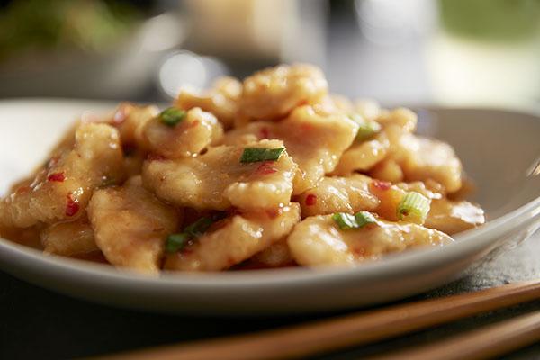 Opção do PF Chang's: Chang's Spicy Chicken