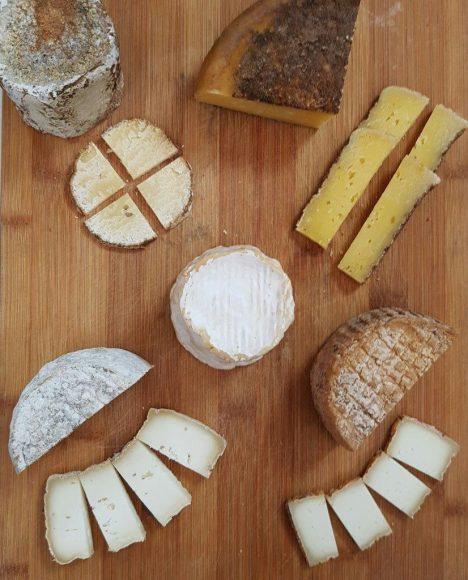 Opções de queijo da A Queijaria