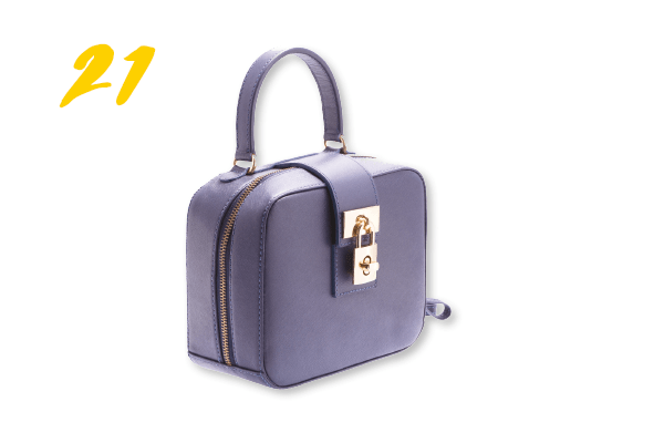 21. Bolsa de couro modelo box   (R$ 329) Rosana Mattua | @rosanamattuaacessorios