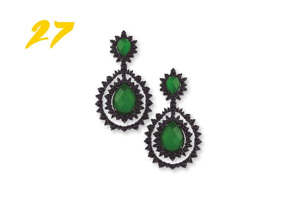 27. Brinco prata quartzo verde e espinélios hera (R$ 2.990) Vivara | vivara.com.br