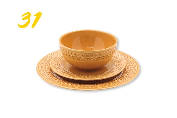 31. Jogo de jantar com 18 peças dots em cerâmica (R$ 498) | ceciliadale.com.br