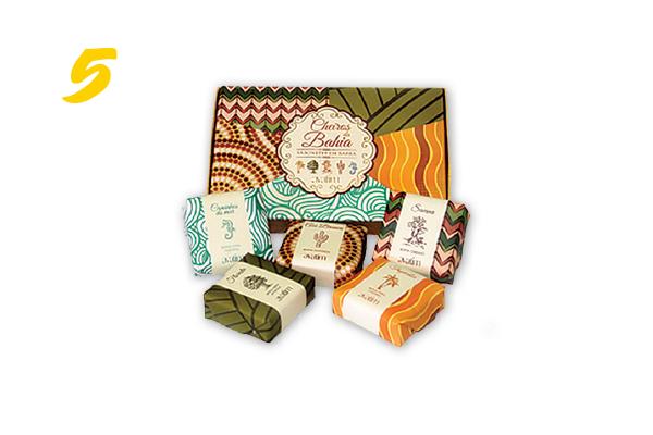 5. Caixa de sabonetes Cheiros da Bahia (R$ 50,40) Avatim | avatim.com.br