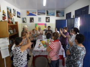O centro de convivência dos idosos é um dos destaques da associação, com atividades que estimulam novas habilidades