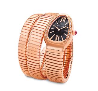 Relógio Serpenti Tubogas em ouro rosa 18k da Bvlgari (preço sob consulta)