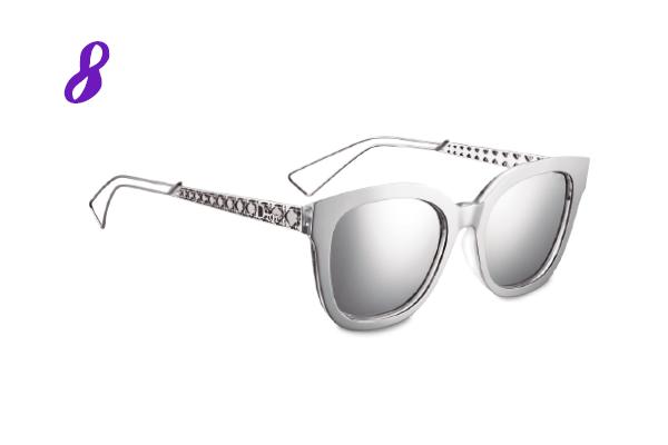 Óculos de sol Diorama1 prata da Dior (preço sob consulta)