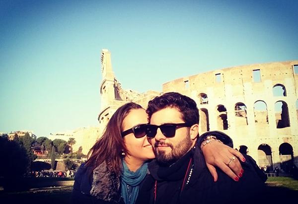 Ana Lucato (via Facebook) – O amor do casal chegou até Roma. Nada como uma viagem romântica!