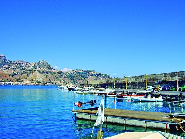 Giardini Naxos cruise terminal Sicily bay
